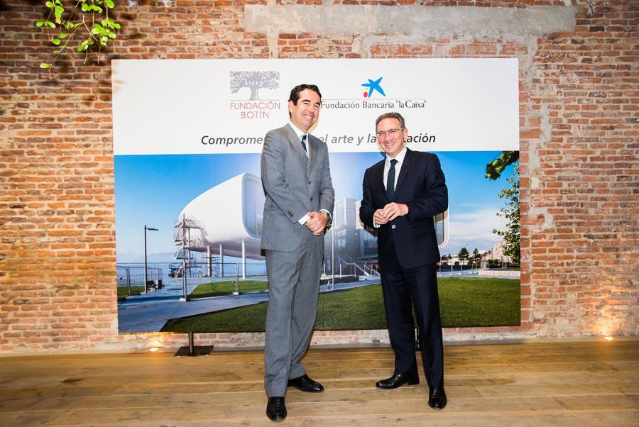 """El presidente de la Fundación Botín, Javier Botín, y el director general de la Fundación Bancaria """"la Caixa"""", Jaume Giró."""