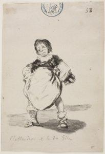 Francisco de Goya. El Maricón de la tía Gila.