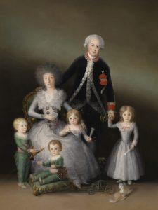 Francisco de Goya. Los duques de Osuna y sus hijos.