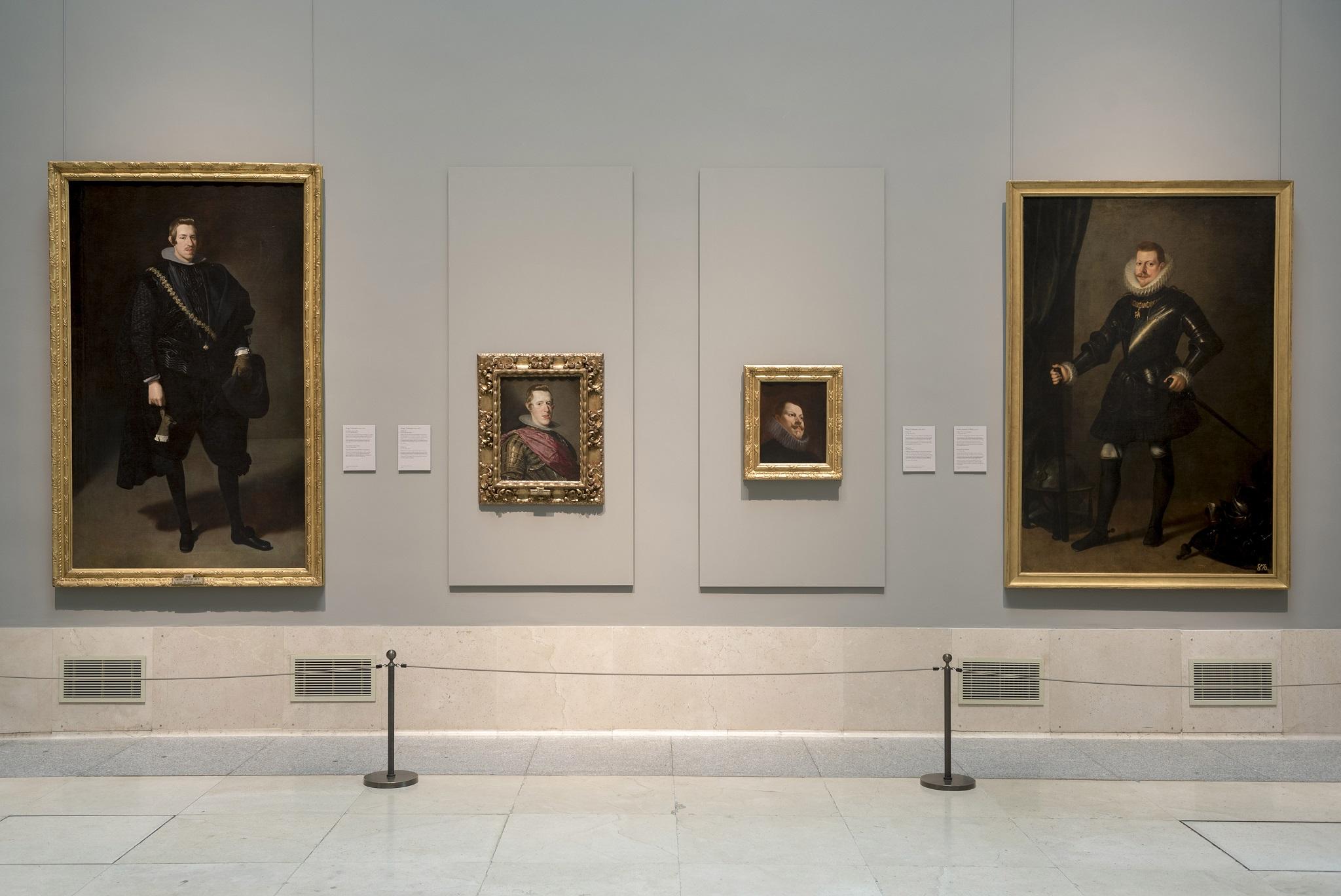Imagen de sala Retrato de Felipe III de Velázquez. Foto: Museo Nacional del Prado.