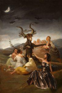 'Maribel Verdú y Goya'. A partir de 'Las Brujas' de Francisco de Goya (hacia 1798). © Museo Lázaro Galdiano, Madrid y © Denise de la Rue. 2017.
