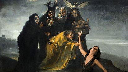 'Inma Cuesta y Goya'. A partir de 'Las Brujas' de Francisco de Goya (hacia 1798). © Museo Lázaro Galdiano, Madrid y © Denise de la Rue. 2017.