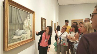 """Visita guiada en la exposición """"Bacon, Freud y la Escuela de Londres""""."""