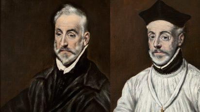 El Greco (Doménikos Theotokópoulos) (Candía, Creta, 1541-Toledo, 1614). 'Retrato de Antonio de Covarrubias y Leiva' y 'Retrato de Diego de Covarrubias y Leiva', c. 1600. Óleo sobre lienzo, 68 x 57 cm. Museo del Greco, Toledo.