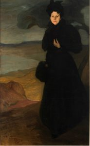 Ignacio Zuloaga. Retrato de Mlle. Valentine Dethomas, 1895. Óleo sobre lienzo. 200 × 120 cm. Colección particular. © Ignacio Zuloaga, VEGAP, Madrid, 2017. Foto: Juantxo Egaña.