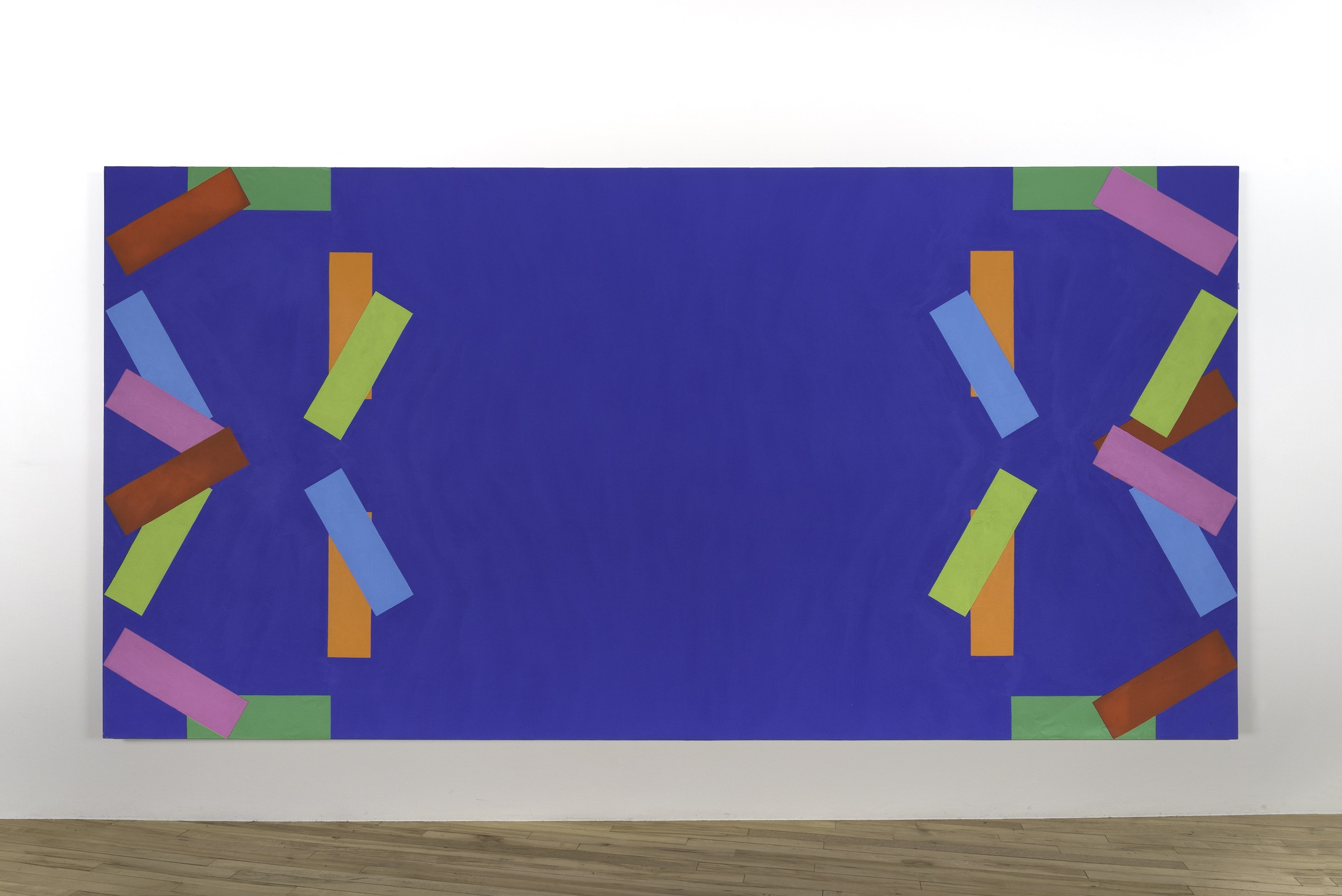 Rosemarie Castoro. Blue Red Gold Pink Green Yellow Y Bar, 1965.