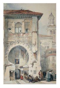 David Roberts. Correo de los Morros. Granada, hacia 1837.
