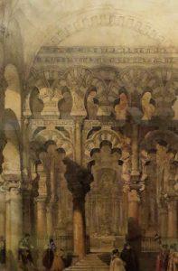 David Roberts. Interior de la Mezquita, 1837.