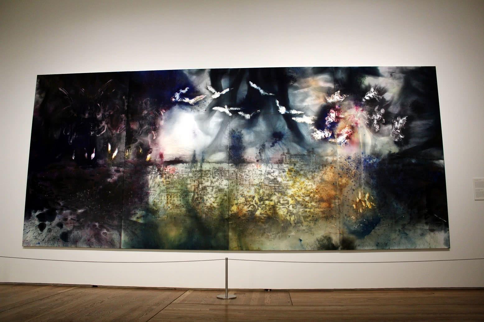 Exposición El espíritu de la pintura. Cai Guo-Qiang en el Prado. Museo Nacional del Prado, Madrid. Foto: Luis Martín.