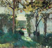 Joaquín Sorolla. Antiguo jardín del Alcázar de Sevilla, 1910.