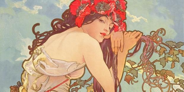 Alphonse Mucha. Le stagioni: Estate, 1896 (detalle).