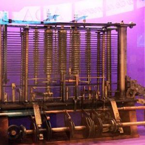 Máquina Analítica. Exposición 'Ada Lovelace. La encantadora de números'.