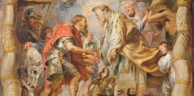 Peter Paul Rubens. El encuentro de Abraham y Melquisedec, hacia 1625. Museo del Prado.