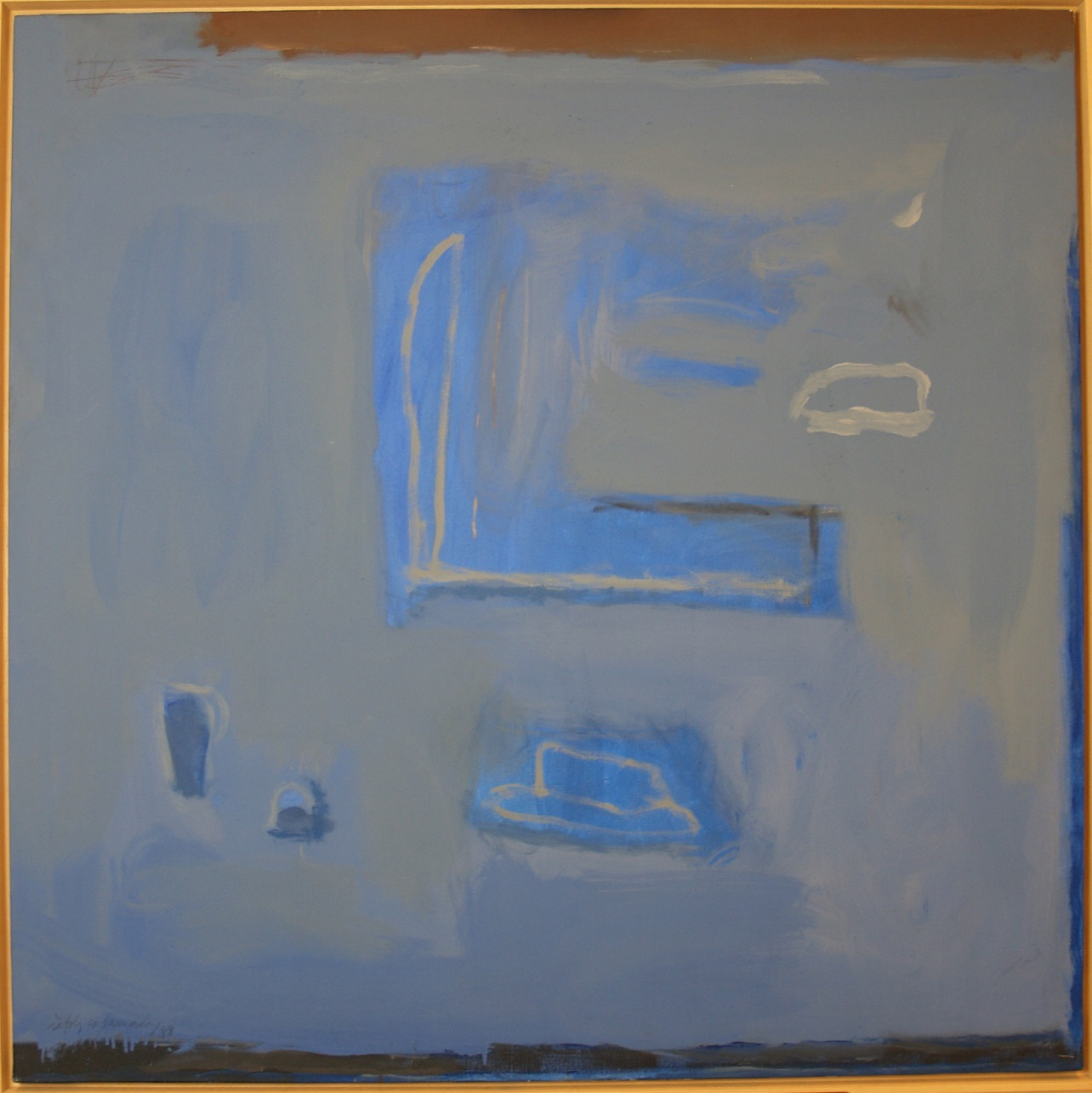 Albert Ràfols-Casamada, Dins del blau, 1988.