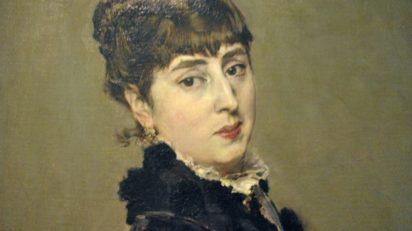 Detalle del retrato de Cecilia de Madrazo, esposa de Mariano Fortuny, por Giovanni Boldini.