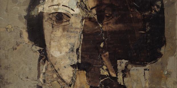 Manolo Valdés, Retrato en grises (detalle), 1998.