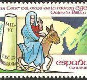 Sello dedicado a la monja Egeria.