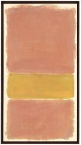 Mark Rothko Untitled (Orange and Yellow) (1969), acrílico sobre papel montado en lienzo, 182 x 97,8 cm.