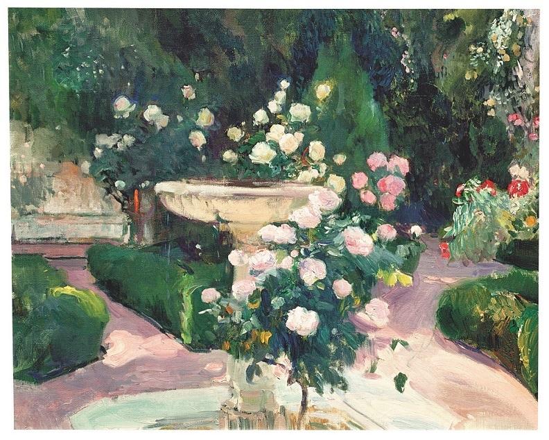 Joaquín Sorolla Bastida, <em>Fuente y rosal de la Casa Sorolla</em>, 1918-1919.