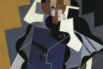 Juan Gris, Mujer sentada, 1917 (detalle). Colección Carmen Thyssen-Bornemisza en depósito en el Museo Thyssen-Bornemisza.