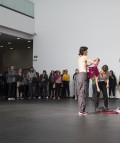 Inauguración en el CA2M Centro de Arte Dos de Mayo de la Comunidad de Madrid de 'Una exposición coreografiada'.