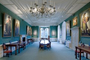 The Zurbaran paintings and other works hanging in Auckland Castle's Long Dining Room. Photo by Colin Davison. © Auckland Castle Trust/ Zurbarán Trust.
