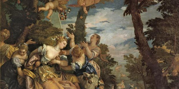 Veronés (Paolo Caliari). El rapto de Europa. 1574. Óleo sobre lienzo. 235 x 296 cm. Palazzo Ducale, Venecia.
