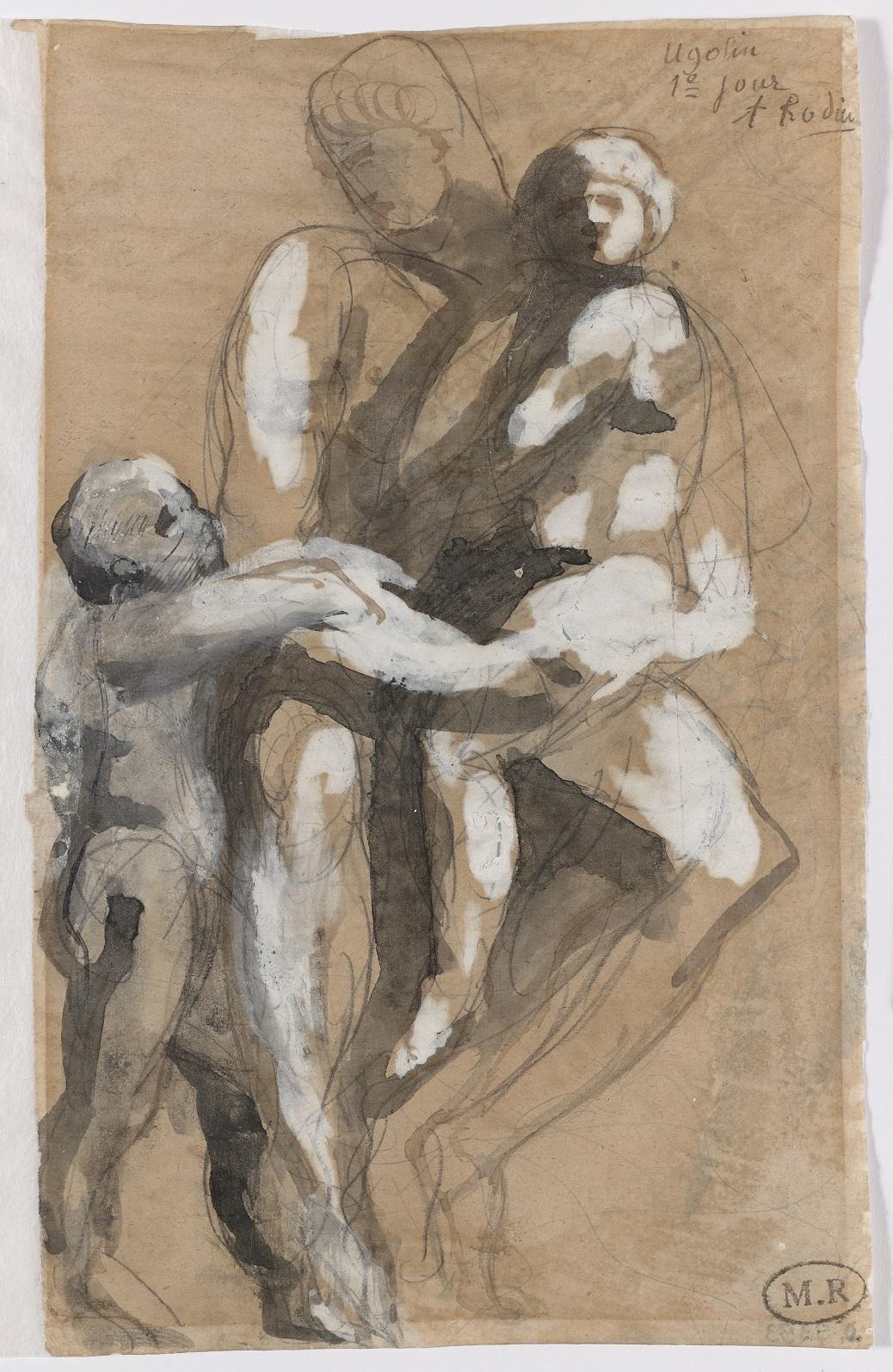 Auguste Rodin, <em>Ugolin et ses enfants, premier jour</em> [Ugolino y sus hijos, primer día], c.1884. Musée Rodin, París. © Musée Rodin. Foto: Jean de Calan.
