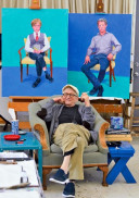 David Hockney en su estudio, Los Angeles, 1 de marzo de 2016. © David Hockney. Crédito de la foto: Jean-Pierre Goncalves de Lima.
