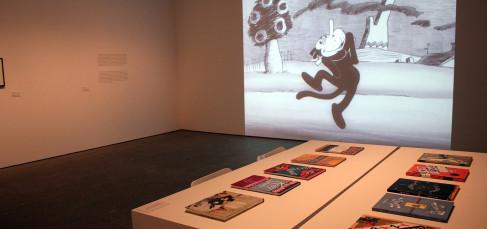 Exposición Kazy Kat es Krazy Kat es Krazy Kat, de George Herriman. Museo Nacional Centro de Arte Reina Sofía, Madrid. Foto: Luis Martín.