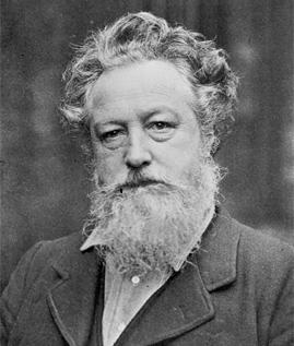 William Morris fotografiado por Emery Walker, c. 1887. Museo Nacional de Artes Decorativas, Madrid.
