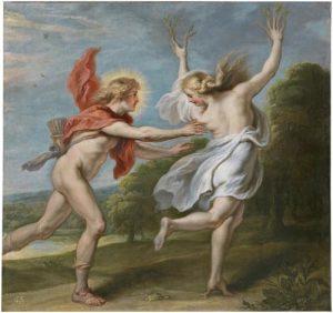 Apolo persiguiendo a Dafne. Theodoor van Thulden. Óleo sobre lienzo. 1636-38. © Museo Nacional del Prado.