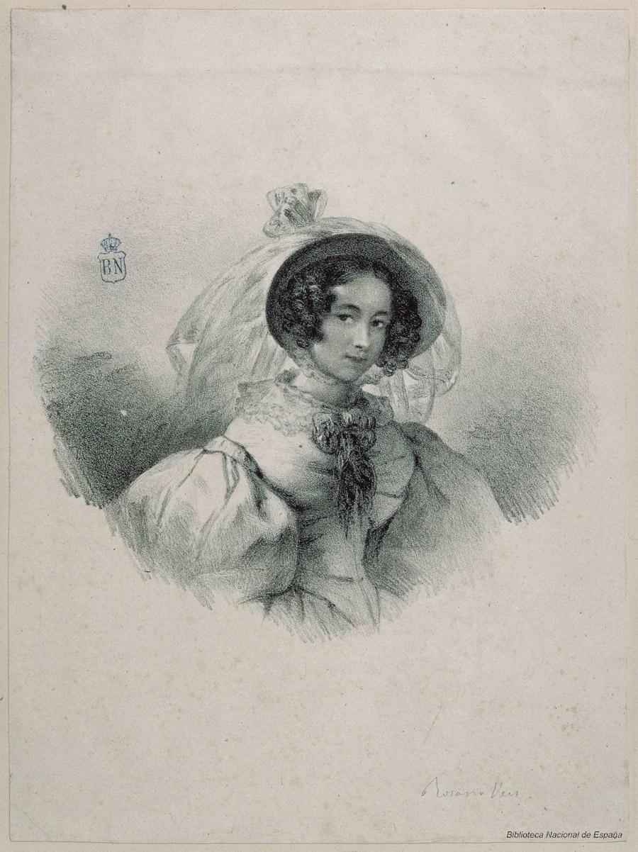 Retrato de Rosario Weiss y Zorrilla - Rosario Weiss - BNE, IH/9929/1.