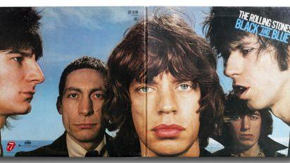Vinilo: The Rolling Stones, Black and Blue, Rolling Stones Records. COC 59106, Inglaterra, 1976. Fotografía: Hiro. Diseño: Bea Feitler.