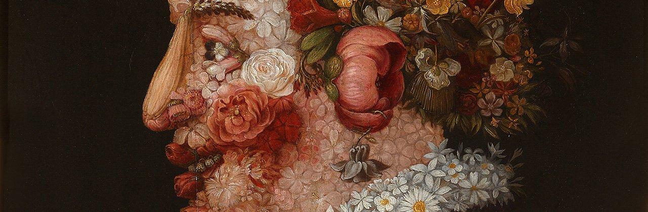 Giuseppe Arcimboldo (1526-1593). La Primavera (1563). Óleo sobre tabla. 66x50cm.
