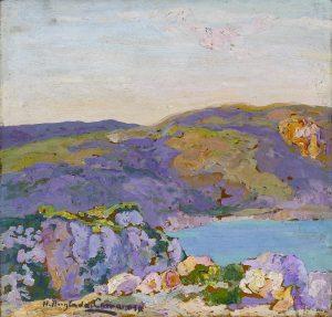 """Puesta de sol. La Fortaleza, 1914-1936. Anglada-Camarasa. © Colección """"la Caixa"""". Anglada-Camarasa."""