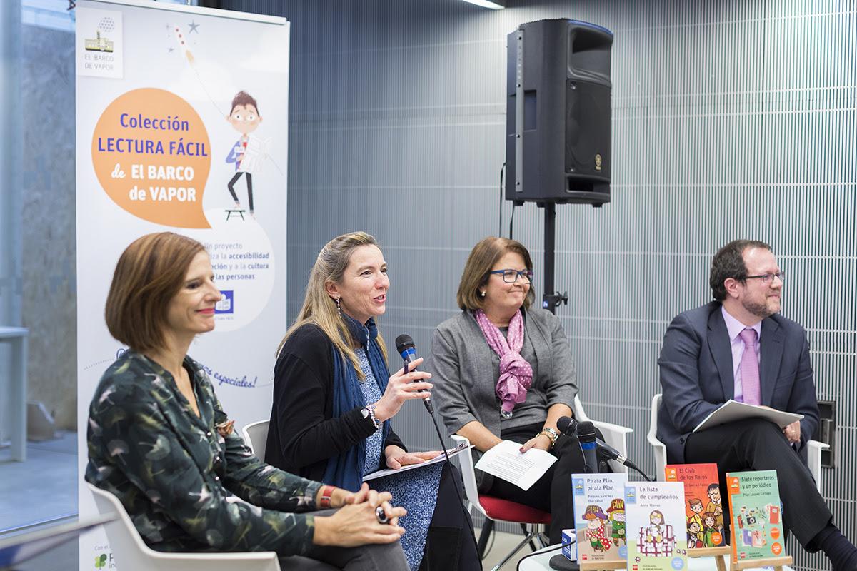 Presentación de la colección Lectura Fácil de El Barco de Vapor, con Anna Manso, Paloma Jover, María José Sanz y Óscar García.