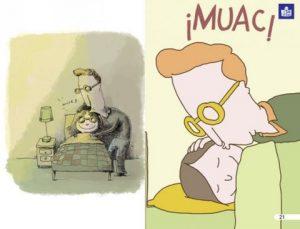 Ilustración original y adaptada de 'La lista de cumpleaños'.