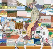 Eduardo Arroyo. Le retour des croisades, 2017. Óleo sobre lienzo. 200x300 cm.