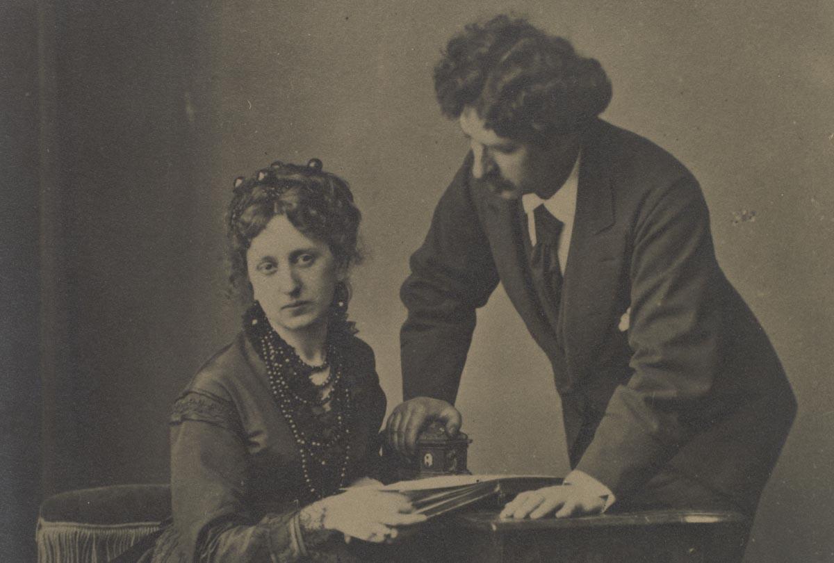 Detalle. Cecilia de Madrazo y Mariano Fortuny. Anónimo. Positivo fotográfico.Hacia 1867. Madrid, Museo Nacional del Prado.