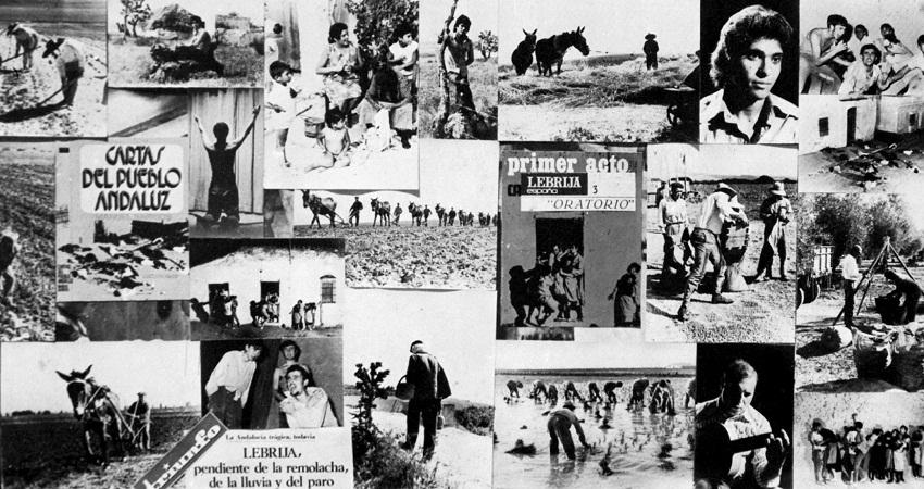 Fotos y collage de Mario Fuentes para el disco 'Campo Joven' de Manuel de Paula.