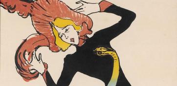 Toulouse Lautrec. Jane Avril. 1899. Imagen cortesía del Musée d'Ixelles.