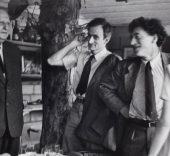 Alexander Liberman. Dinner Party, Andre Derain, Balthus and Alberto Giacometti, Paris 1954. Gift of Alexander Liberman, 1990. ICP. https://www.icp.org/browse/archive/objects/dinner-party-andre-derain-balthus-and-alberto-giacometti-paris