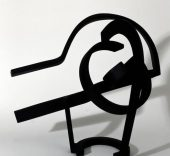 Jorge Oteiza. Ensayo de desocupación de la esfera, 1958. Acero forjado 50 x 49 x 39 cm. Guggenheim Bilbao Museoa. Foto: Erika Barahona Ede. © FMGB Guggenheim Bilbao Museoa.
