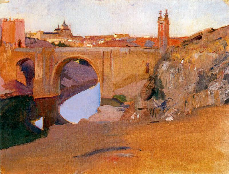 Vista del Tajo. Toledo. SOROLLA (1912). Óleo sobre lienzo (49,5 x 65,5).