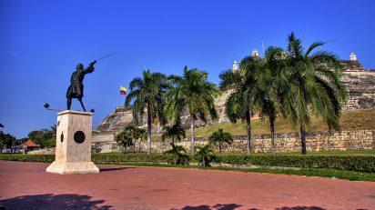 Monumento a Blas de Lezo en el Castillo San Felipe de Barajas, Cartagena de Indias, Colombia. De Martin St-Amant (S23678) - Trabajo propio, CC BY-SA 3.0, https://commons.wikimedia.org/w/index.php?curid=6383932.