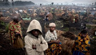 Andrew McConnell. Congo in Crisis. The Chefferie IDP site, home to some 4,000 people, in the town of Kichanga, North Kivu, on Friday, Feb. 15, 2008.
