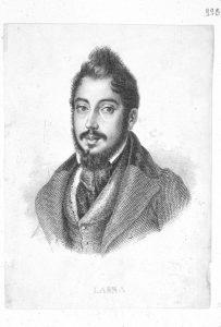 Retrato de Mariano José de Larra y Sánchez de Castro - Rosario Weiss - BNE, IH/4776/5.