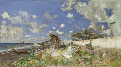 Playa de Portici. Mariano Fortuny y Marsal.
