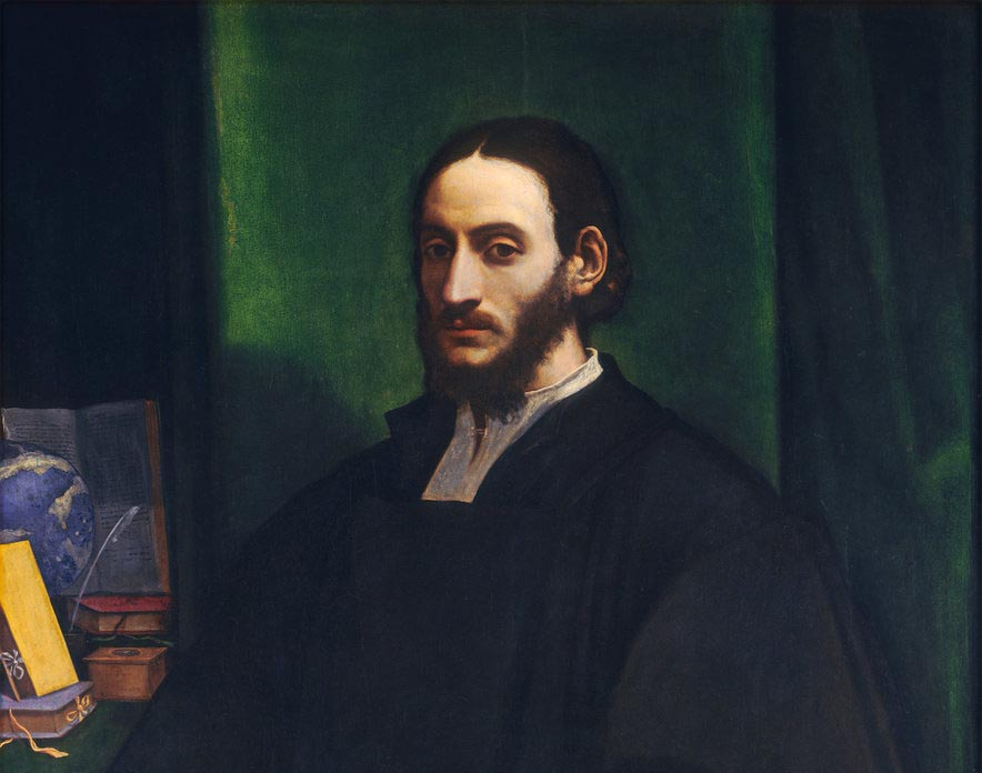 Sebastiano del Piombo, Portrait of a Humanist, Italian, 1485 - 1547, c. 1520, oil on panel transferred to hardboard, Samuel H. Kress Collection. Posible retrato de León el Africano.